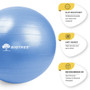 """Exercise Ball Blue 25.5"""" (65cm) Core Stability Strengthening Extra Thick Heavy Duty Anti-Burst Birthing Yoga Ball Chair (Office - Home - Gym)"""
