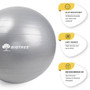 """Exercise Ball Gray 29.5"""" (75cm) Core Stability Strengthening Extra Thick Heavy Duty Anti-Burst Birthing Yoga Ball Chair (Office - Home - Gym)"""