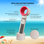 Portable Fan Hand Held Personal Bladeless Cooling Safe USB Rechargeable White