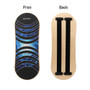 Wooden Balance Board Trainer   Roller Board for Snowboard   Surf Hockey Training   Exercise Fitness Equipment C2