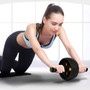 Ab Roller Wheel   Abdominal Roller Wheel with Knee Pad   Core Workout Abdominal Exercise   Home Gym Workout Yellow
