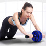 Ab Roller Wheel   Abdominal Roller Wheel with Knee Pad  Blue