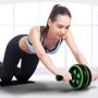 Abdominal Roller Wheel with Knee Pad Green