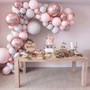 Balloon Garland Arch 169 Assorted Party Kit | Pink Gray Clear Confetti