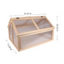Wooden Cold Frame Greenhouse Bed 31x23x20