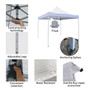 Outdoor Canopy 10x10 ft for Party Wedding Tent Heavy Duty Gazebo Pavilion White