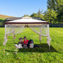 10x10 ft Outdoor Top Screened Gazebo Canopy for Patios, Backyard, Patio, Party, Event with Mosquito Netting White