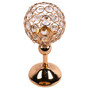 """Crystal Sphere Candle Holder for Anniversary Celebration Gold 9.8"""""""