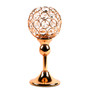 """Crystal Sphere Candle Holder Set of 2 for Anniversary Celebration Gold 9.8"""""""