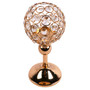 """Crystal Sphere Candle Holder Set of 2 for Anniversary Celebration Gold 11.8"""""""