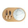 Bamboo Cheese Board Set, Wooden Charcuterie Board Serving Platter with Knife Set, for Wine, Cheese, Meat, Fruit, Vegetable (8 x 13)
