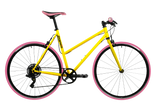 Pooch 1x8 Speed Urban Bike – Pink Series Yellow