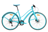Hey Cycle Disc9 – 9 Speed Bicycle – Turquoise