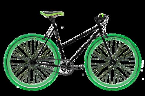 Moosher Single Speed - Black Series Green