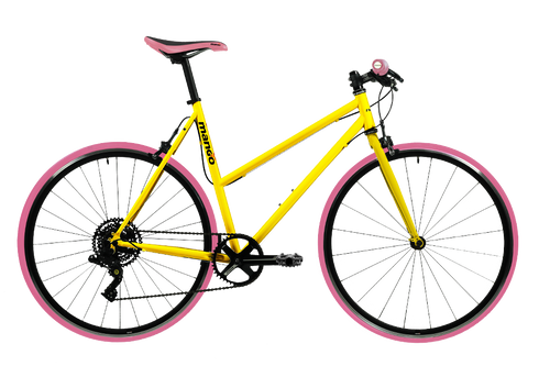 Pooch 1x8 Speed Urban Bike – Pink Series Yellow