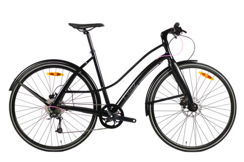 Hey Cycle Disc9 – 9 Speed Bicycle – Matte Black