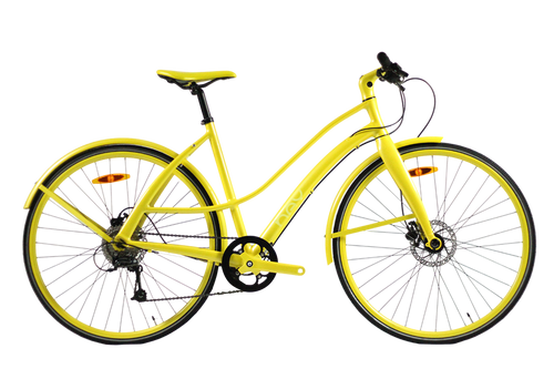 Hey Cycle Disc9 – 9 Speed Bicycle – Sunblush Yellow