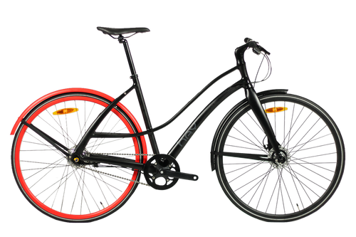 Hey Cycle Roller7 – 7 Speed Bicycle – Matte Black & Red