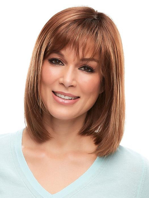 Emilia, Jon Renau, Synthetic Hair Wig, Lace Front Wig,  Monofilament Top, Long Bob Wig