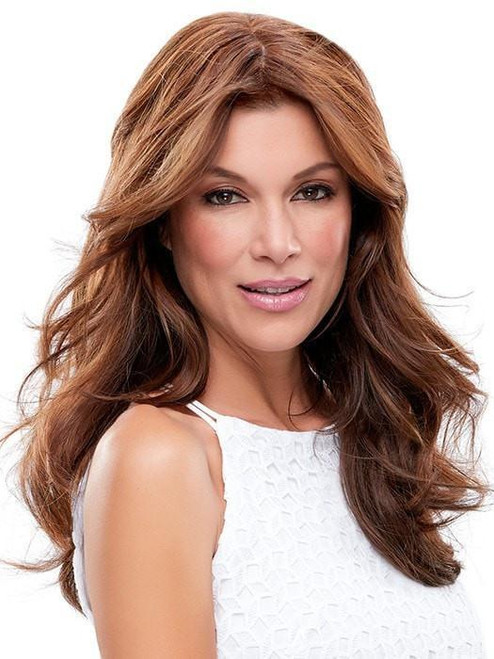 """easiPart HH XL 18"""" Exclusive Colors   Remy Human Hair Topper (Mono Top)"""