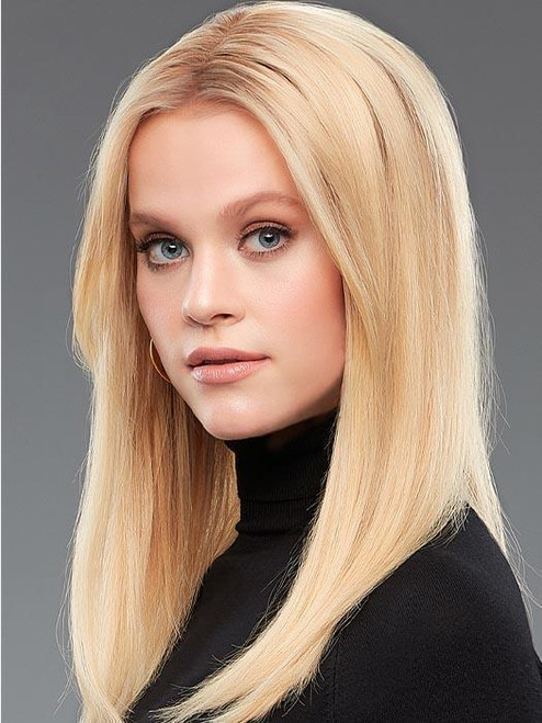"""easiPart HH 18"""" Exclusive Colors   Remy Human Hair Topper (Mono Top)"""