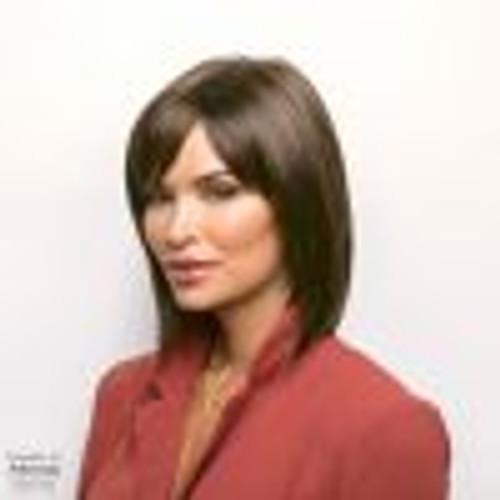 Alva, Noriko, Synthetic Hair Wig, Collar-Length, Bob, Tapered Fringe