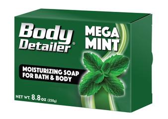 Mega Mint bath soap bar with coconut and palm oil