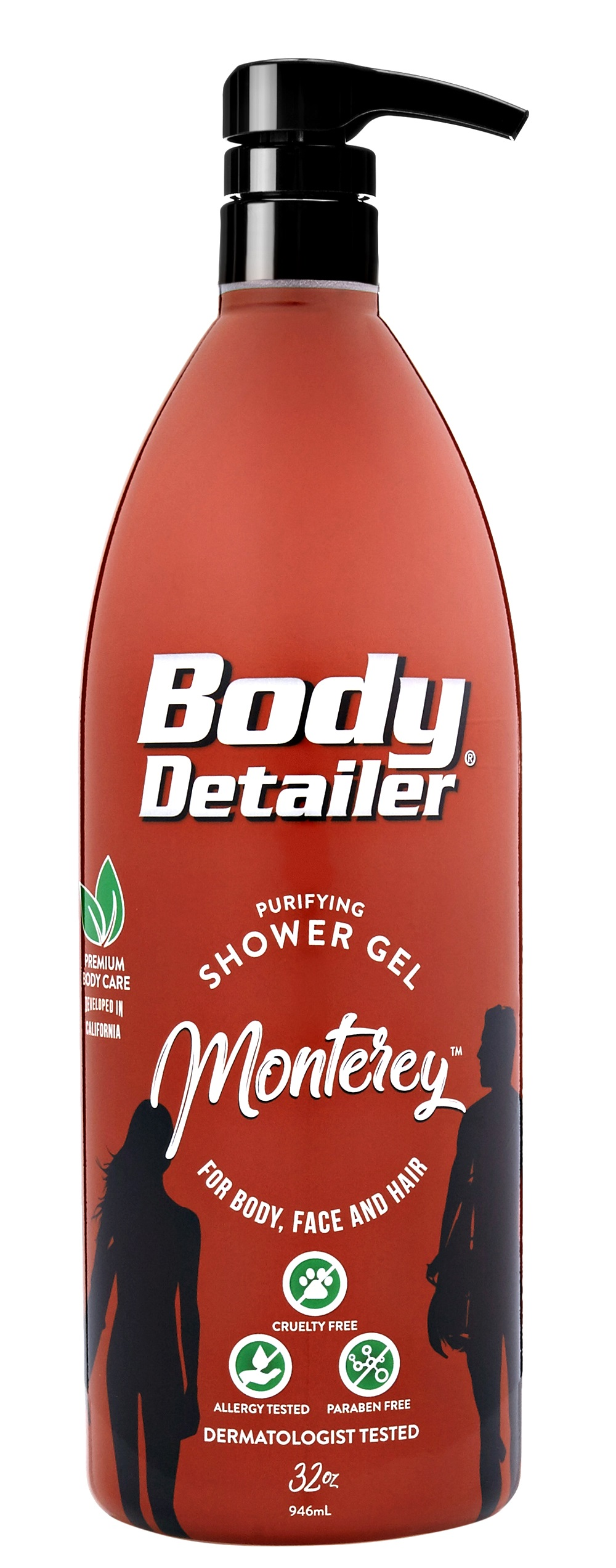 Monterey Moisturizing All In One Shower Gel Shampoo Body Wash 32 oz Pump