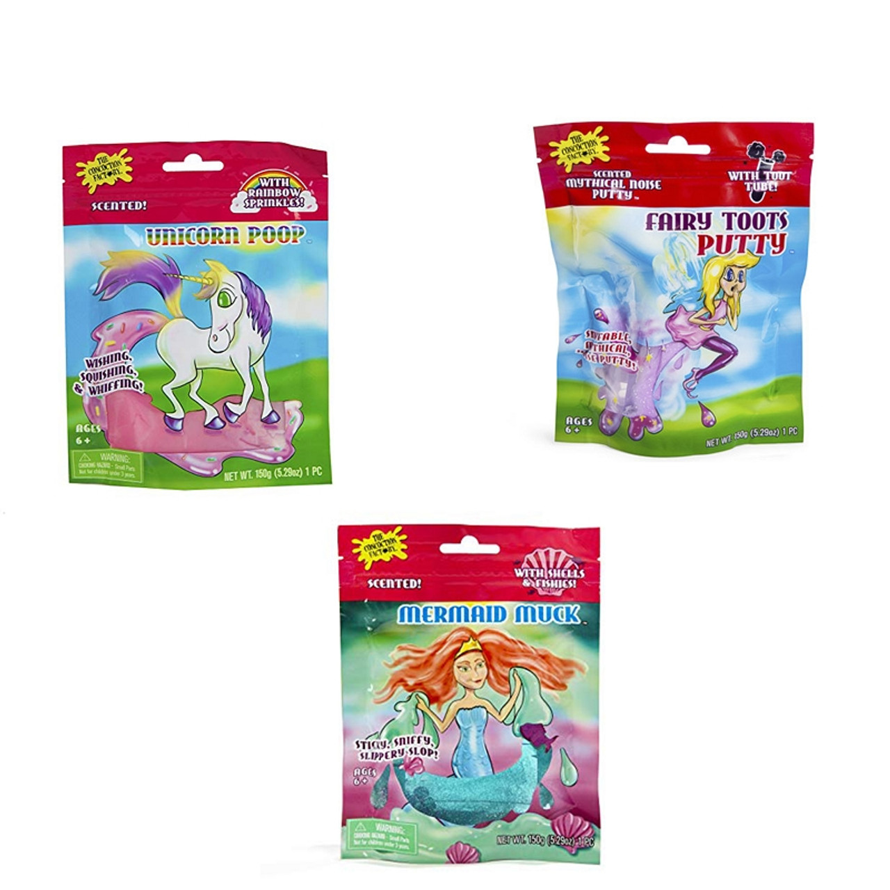 Slime Compound with Pieces Fantasma Sparkly Mermaid Muck with Shells and Fish