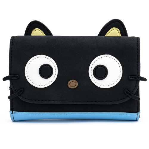 LOUNGEFLY X HELLO KITTY CHOCOCAT FAUX SUEDE COSPLAY TRI-FOLD WALLET
