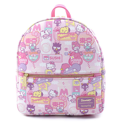 LOUNGEFLY X HELLO SANRIO KAWAII AOP MINI BACKPACK
