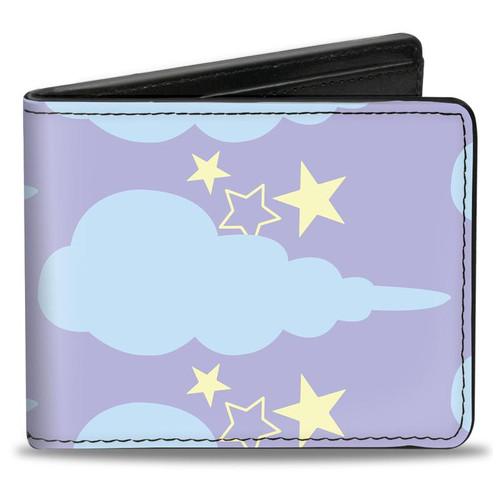 Lavender Cloudy Starry Sky Bi-fold Wallet
