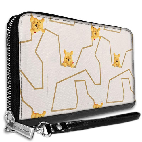 Winnie the Pooh Poses Zip Around Wallet