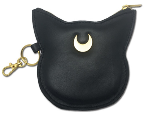 Sailor Moon Luna Black Coin Purse With Gold Accent