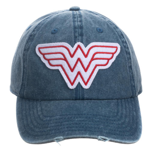 Wonder Woman: Pigment Red/White Dye Distressed Hat