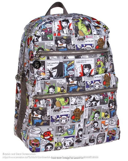 Tokidoki Continental Japanese Comic Backpack