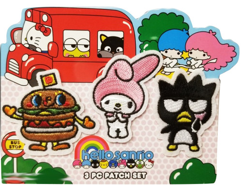 Sanrio Friends Patch 3 pc set Badtzmaru Dokidoki Yummychums My Melody Patch Set