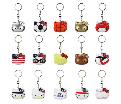 Hello Kitty x Team USA Vinyl Keychains