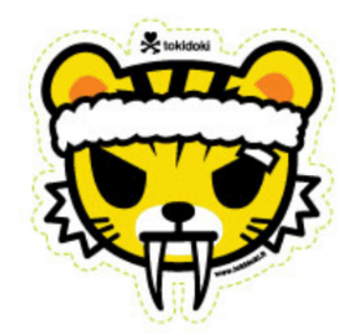 Tokidoki Training Tiger 3.5 in Sticker