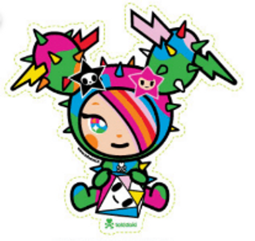 Tokidoki Sandy Diamante 5.5 in Sticker