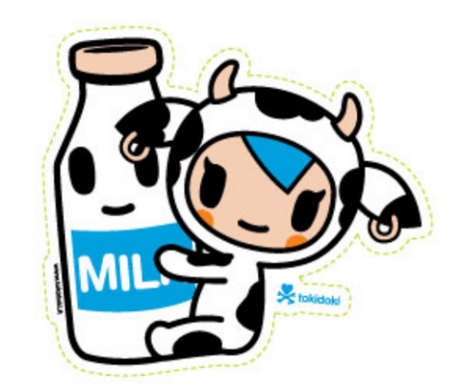 Tokidoki Mozarella Milk  5 in Sticker