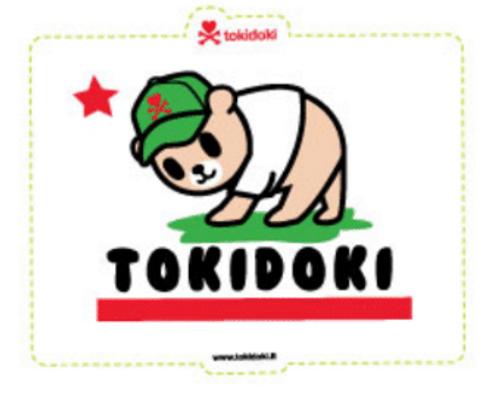 Tokidoki California State Flag 4.5 in Sticker