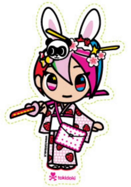 Tokidoki Japanese Geisha Nijiko 5.5 in Sticker