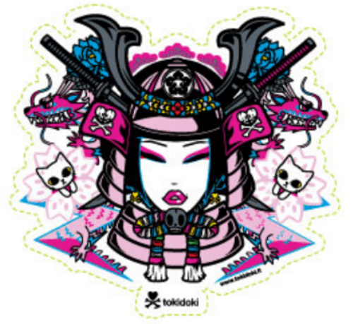 Tokidoki Samurai Girl 5 in Sticker