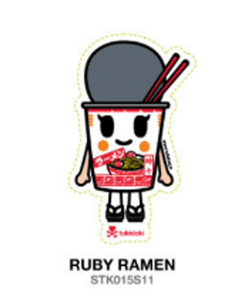 Tokidoki Ruby Ramen 4.5 in Sticker