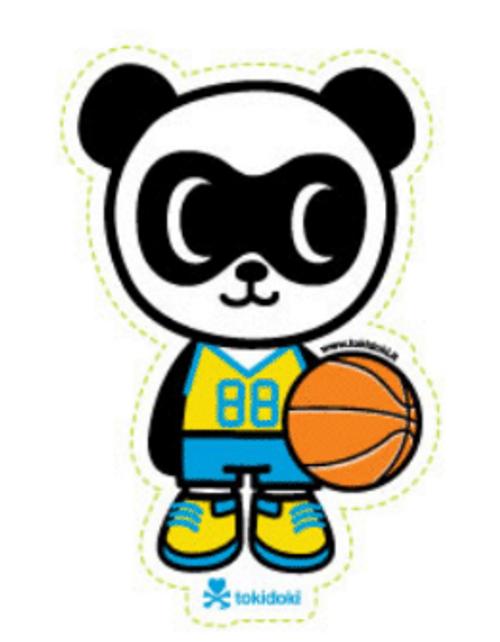 Tokidoki Super Panda 4.75 in Sticker