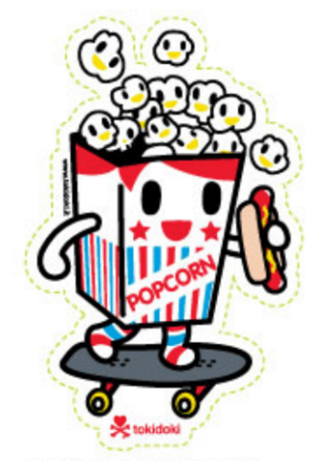Tokidoki Popcorn Skater Guy 4.5 in Sticker