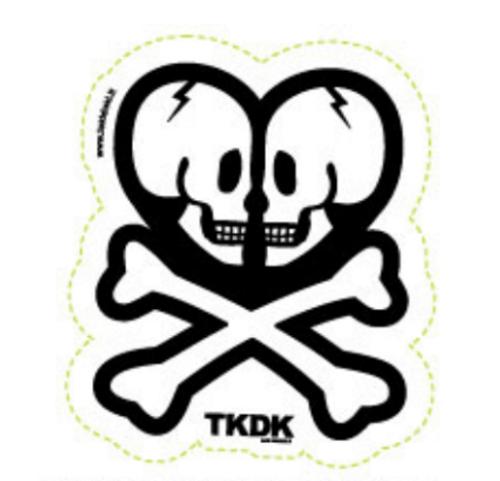 Tokidoki TKDK Double Skull 4.5 in Sticker