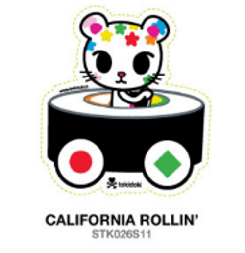 Tokidoki California Rollin' sushi car 4 in Sticker