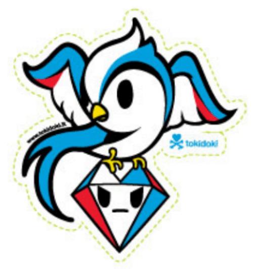 Tokidoki California Rondine Bird 4 in Sticker